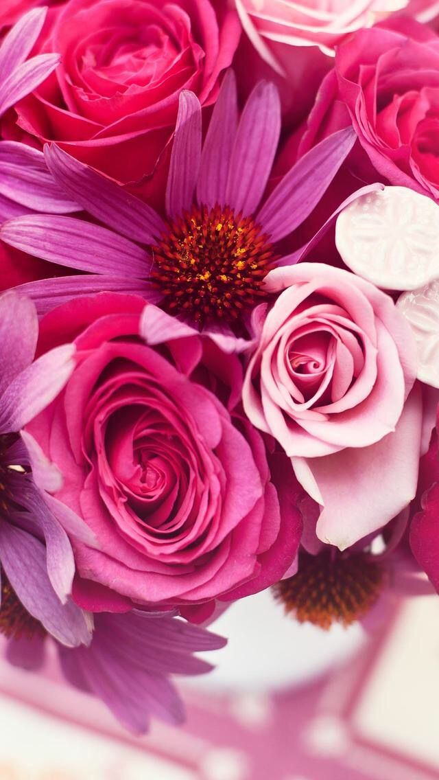 Wallpaper iPhone beautiful flowers ⚪️