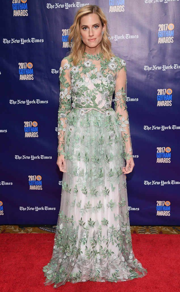 Allison Williams in Giambattista Valli Couture at The Gotham Independent Film Awards 2017