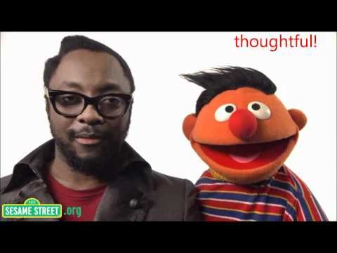 Will.i.am sings 'What I Am' on Sesame Street (video with words). Great for transitions.