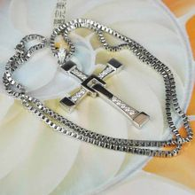 the best Hot ! Fast and Furious 6 Necklace Vin Diesel Cross 925 Sterlng Silver Pendant  Free Engraving  (Cross 24 Grams Chain 30 grams)