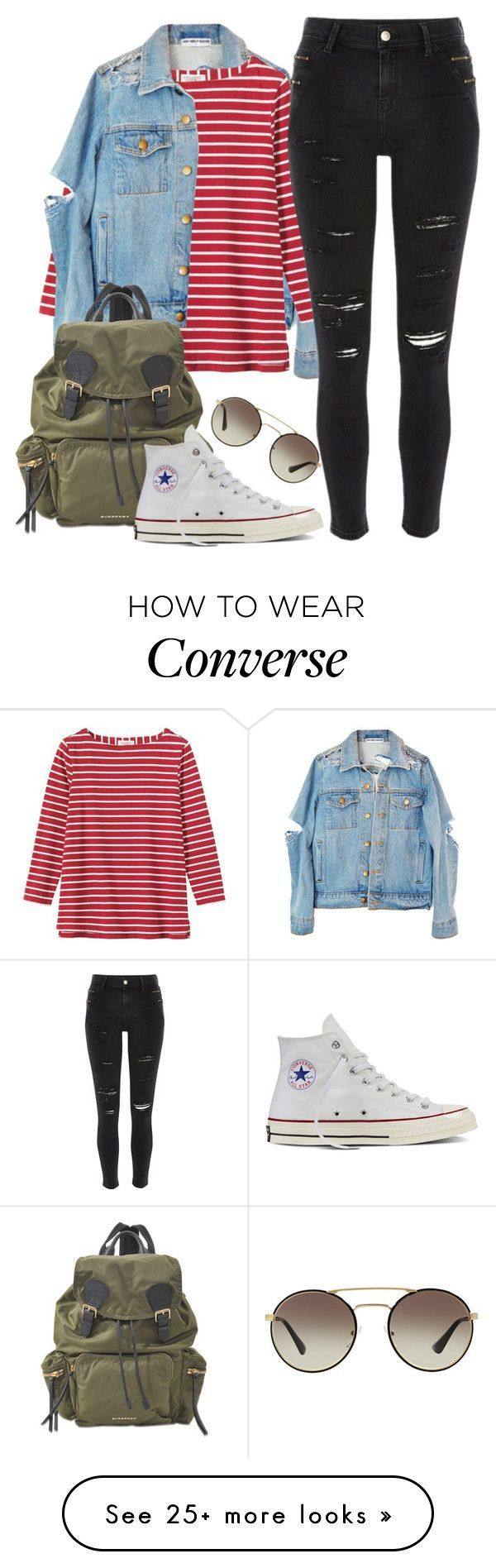 """Untitled #535"" by yhani on Polyvore featuring Toast, Burberry, Converse, Prada and River Island"