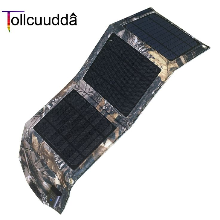 Tollcuudda 8W Solar Power Bank 3 Solar Pannels Portable Charger External Battery Universal Poverbank 1.3A For All Mobile Phones #Affiliate
