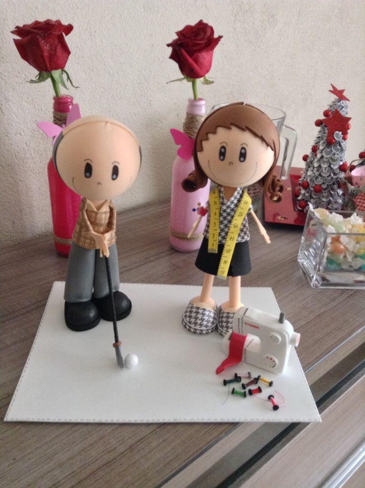 Matrimonio cada uno con su afición!