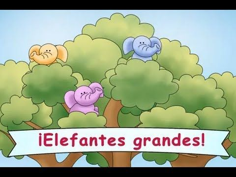 """""""¡Elefantes grandes!""""   A silly song that kids will love to sing and dance to!  Reinforces the vocabulary for """"left,"""" """"right,"""" and """"higher."""""""