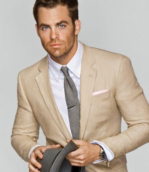 Men's style: beige suit