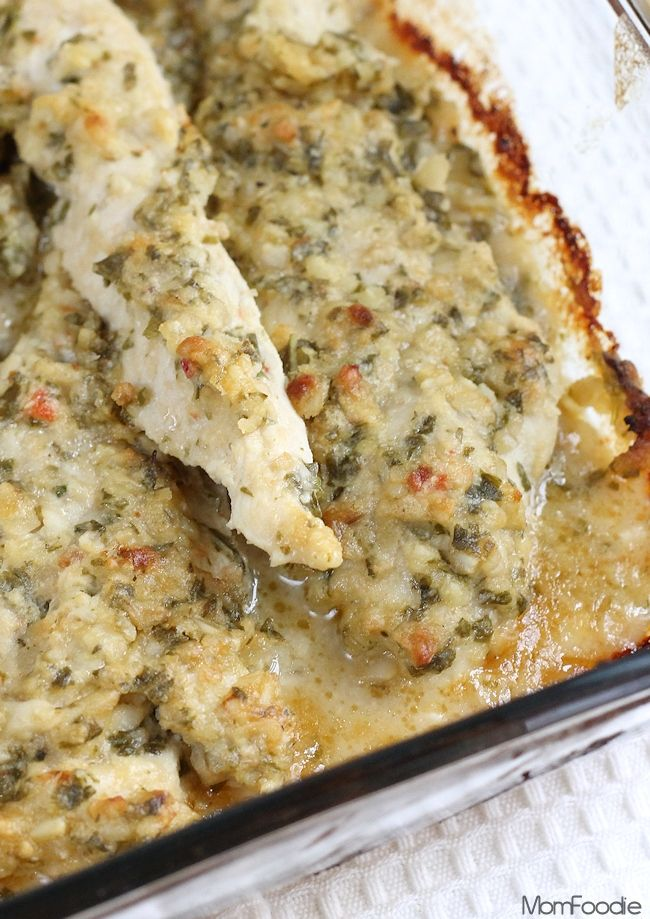 Baked Pesto Chicken - Easy recipe, perfect for weeknights.