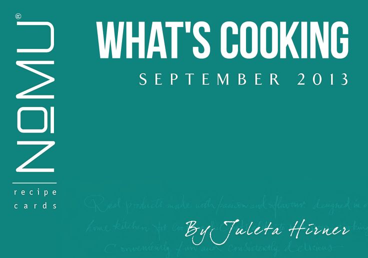 What's Cooking Recipe Cards | September 2013 | With Juleta Hirner