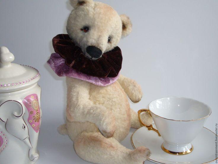 Купить Суфле в шоколаде. Мишка тедди (33 см) - кремовый, мишка тедди
