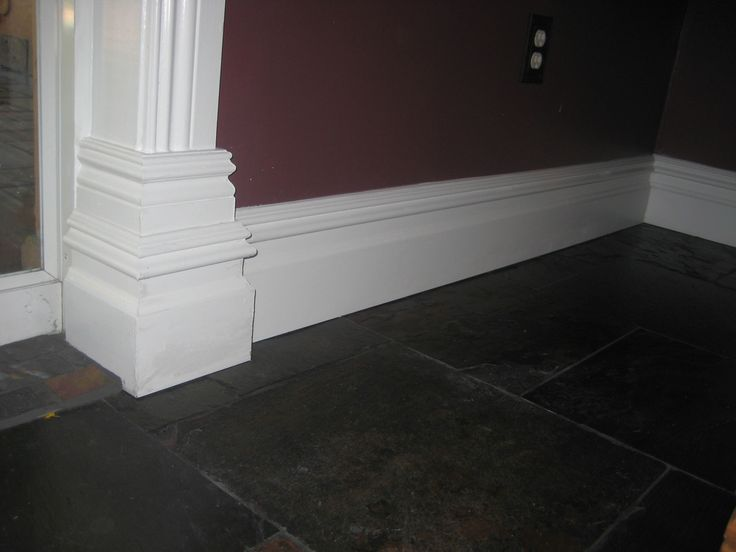 Beautiful White Colonial Style Baseboards Baseboards
