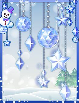 Silver Sparkling Snow Flake -Effect- (Room) WH+ The seasonal slot Snow Flakes
