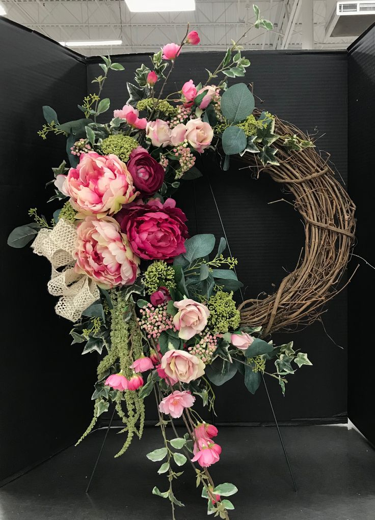 Blushing Pinks Summer Wreath by Andrea