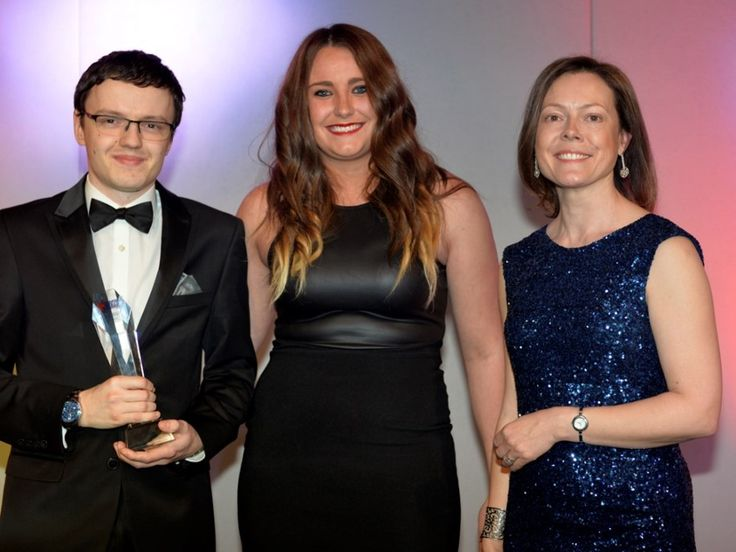 Alex Tomlinson, Jaguar Land Rover - Best of British Engineering and Apprentice of the Year (left), Jade Aspinall (centre) and Ann Watson (right)