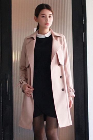 Ester Trench Coat (Beige) | Korean Fashion