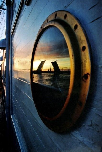 St. Peterburg Reflections In The PortHole | re-pinned by http://www.wfpblogs.com/category/southfloridah2o