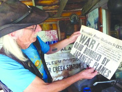 """Sid van der Meer's Bordertown Garage & Museum is composed up of numerous themed rooms. One room is themed as an old general store and post office. """"I made the General Store because I had all this stuff pertaining to an old store."""