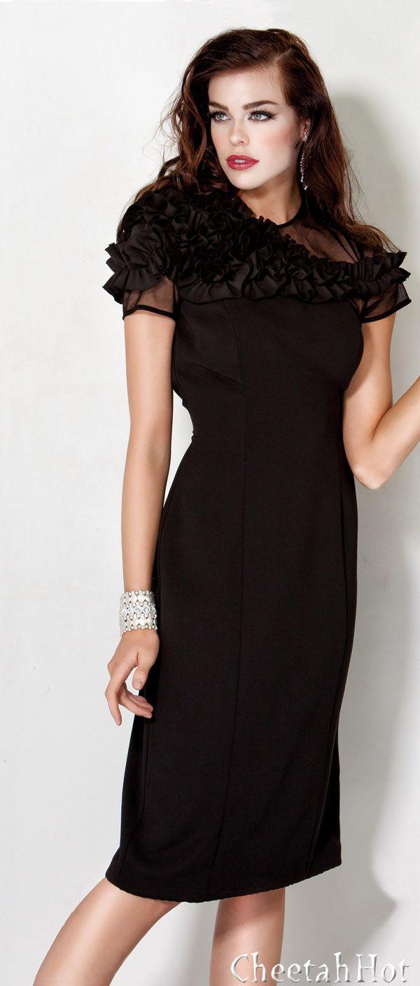 JOVANI - Black Evening Dress http://pinterest.com/shallmao/maos-evening-dress-world/