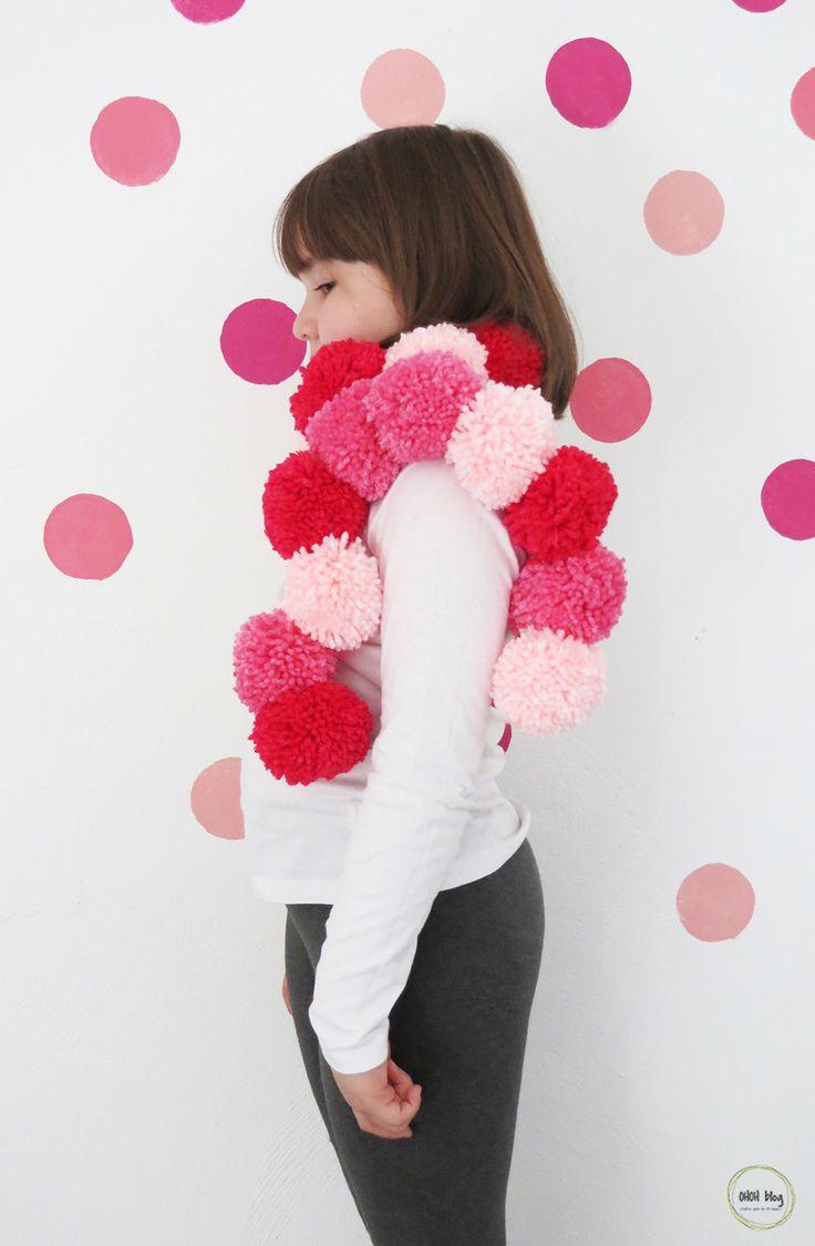 How to make a pom poms scarf - Ohoh Blog
