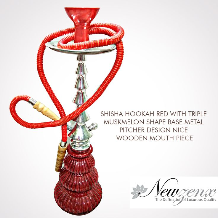 "Shisha Hookah Red:-  ze: 28"" Weight:2000gm Shisha Hookah red with crystal beads design nice #newzenx #hokahred #shishhookah #fittingspipe #buyeroffers #specialoffers"