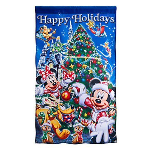 Santa Mickey Minnie Mouse And Friends Christmas Flag Find Out More About The Great Product At The Image Christmas Flag Disney Christmas Mickey And Friends