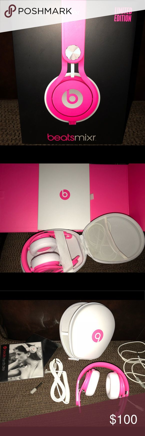 Beats LIMITED EDITION Pink Mixr LIMITED EDITION Beats Mixr, pink, brand new condition, complete with original box, carrying case, cords, and owners manual, $100 Beats by Dre Accessories