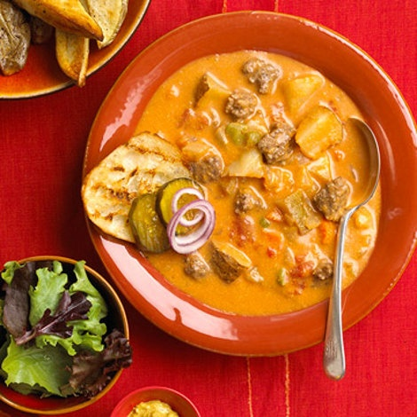 All American Cheeseburger Soup | Deliciousness in a bowl | Pinterest