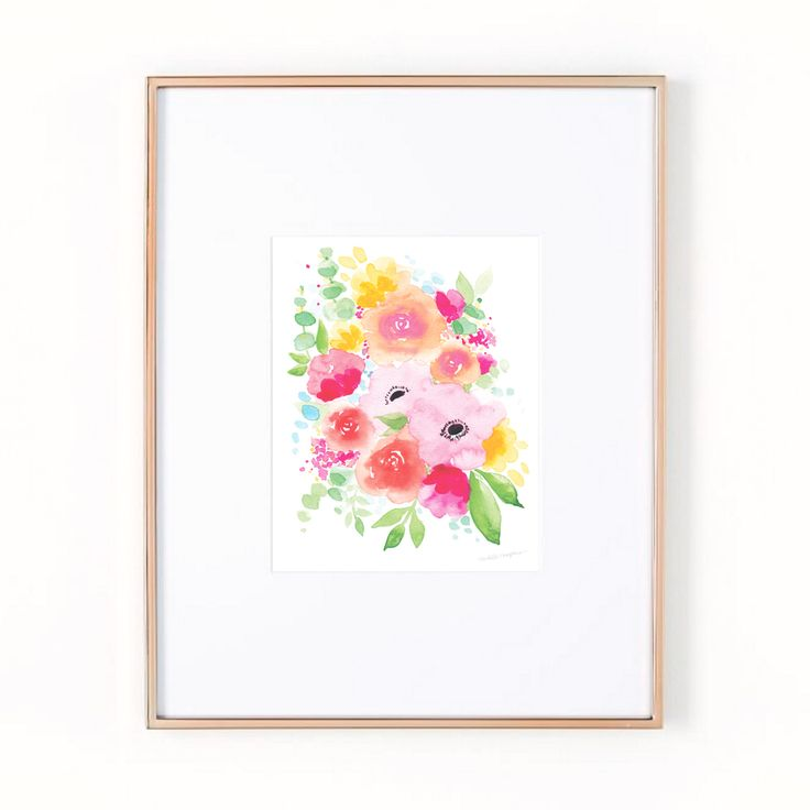 Abstract watercolor floral painting art print by artist Michelle Mospens. | Mospens Studio