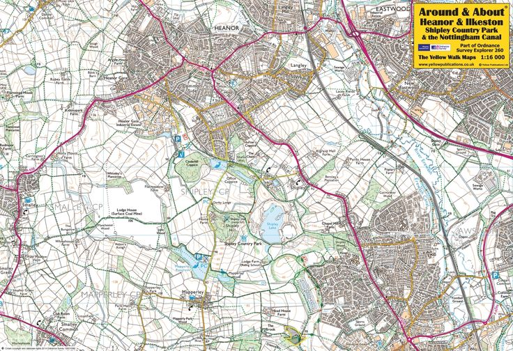 Heanor & Ilkeston, Shipley Country Park & the Nottingham Canal - front of the map