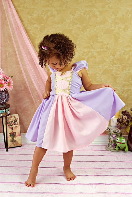 RAPUNZEL costume dress  princess dress for toddlers and girls