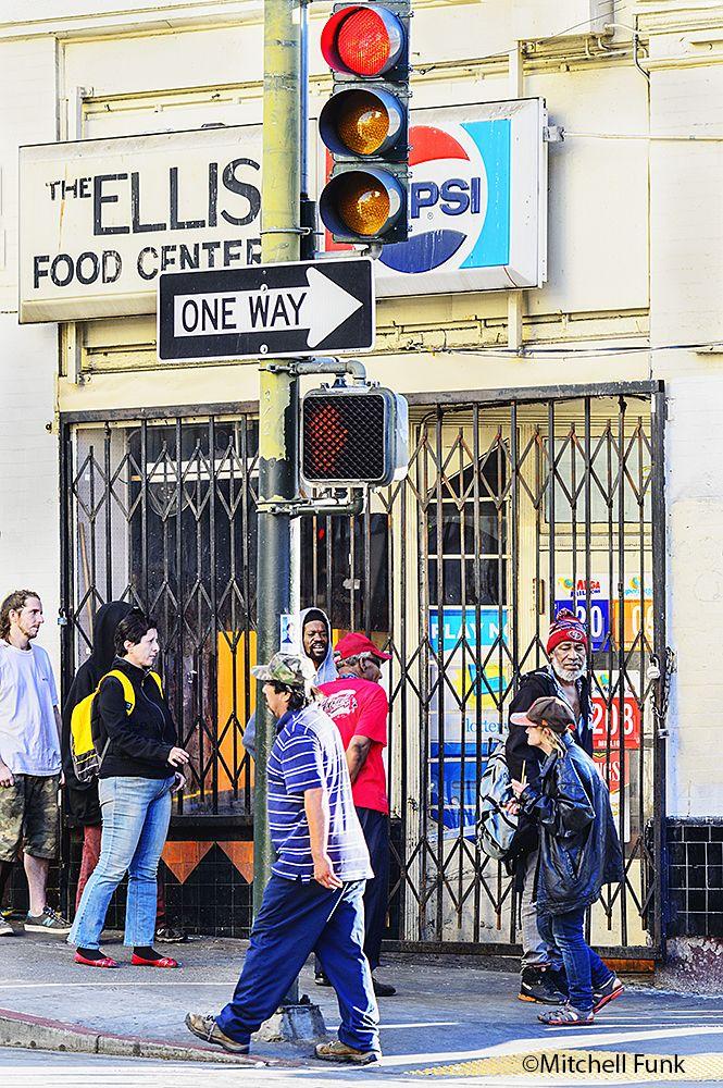 People On Ellis Street In The Tenderloin San Francisco By Mitchell Funk Www Mitchellfunk Com San Fransisco San Francisco
