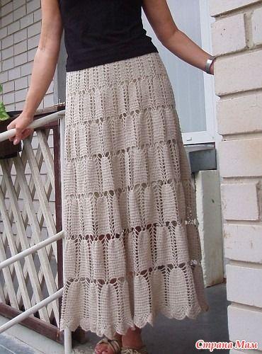 Юбка крючком + схема - Вязание - Страна Мам
