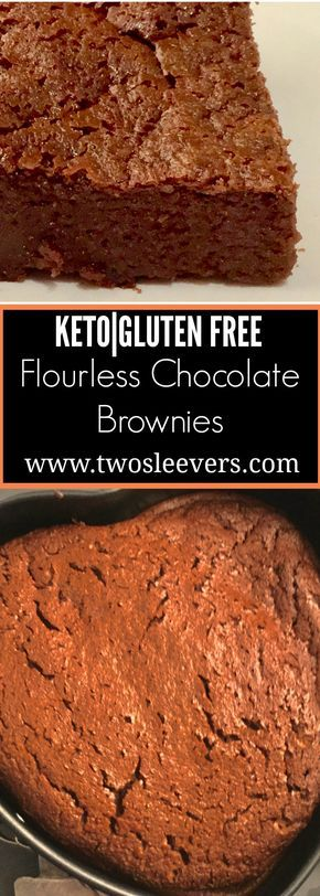Flourless Chocolate Brownies Pinterest - Five Ingredient Keto Flourless Chocolate Brownies - https://twosleevers.com