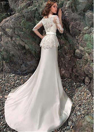 Элегантный тюль и атласный декор Bateau Mermaid Slit с платьями из бисера