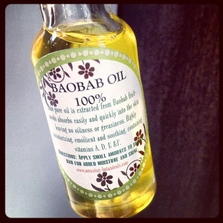 Baobab oil for acne