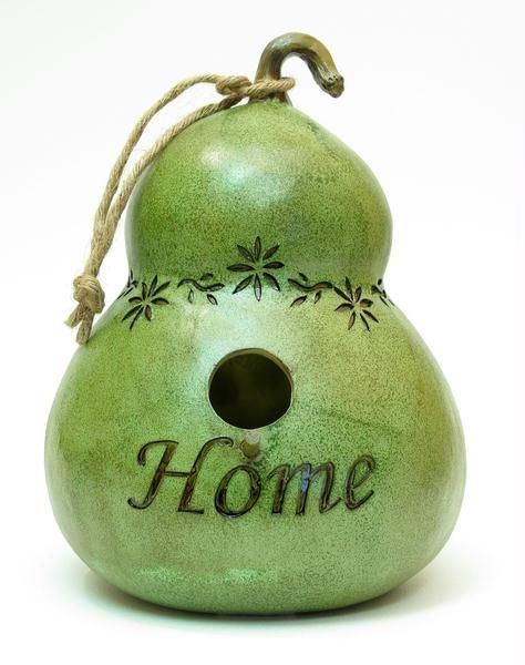 Image detail for -Green Gourd and apos;Home and apos; Birdhouse
