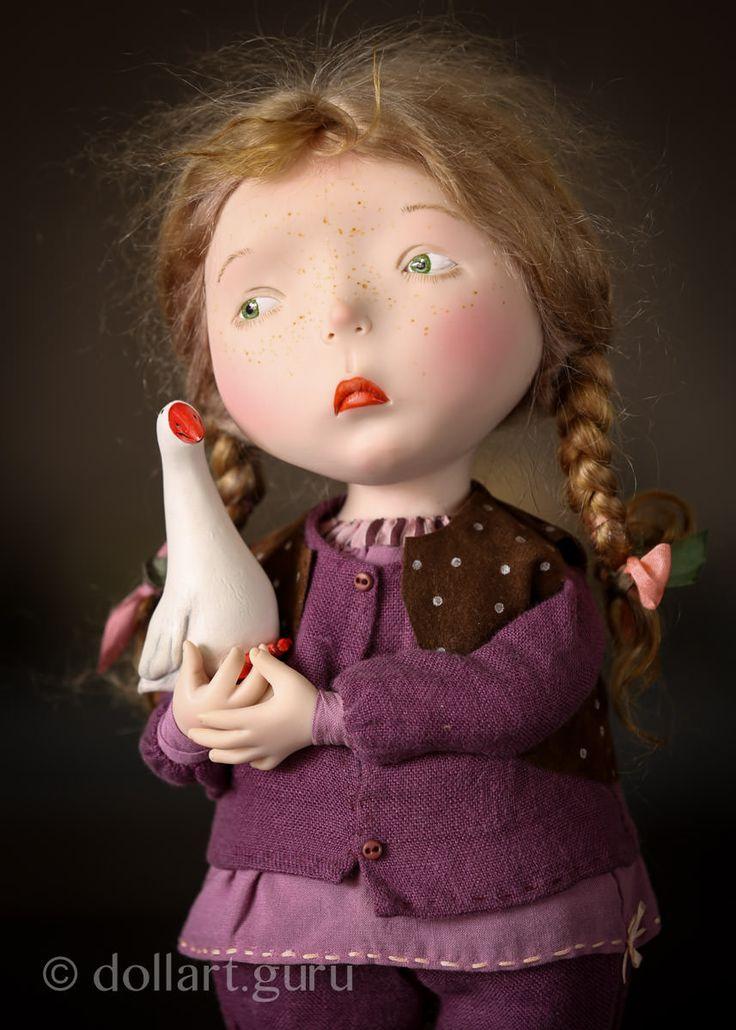 Гусь Лапчатый. Авторская кукла Натальи Мурашовой | Doll Art Guru