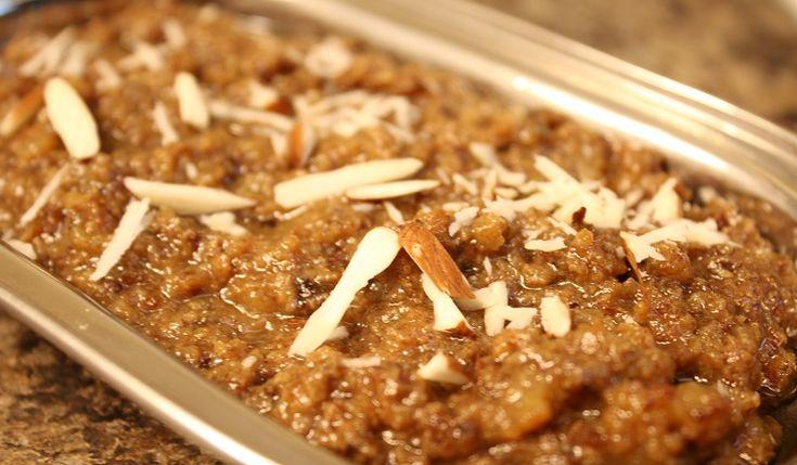 walnut halwa akhrot ka halwa priyashii s kitchen kulfi recipe walnut recipes indian desserts on hebbar s kitchen halwa id=36854