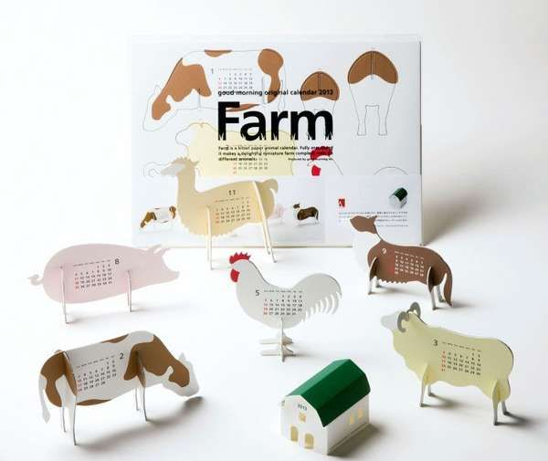Animal-Shaped Date Keepers - Farm Calendar from Good Morning Inc. Features All the Barnyard Faves (GALLERY)