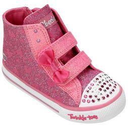 Tênis Skechers Shuffles Sprinkle Steps Infantil - Rosa+Branco