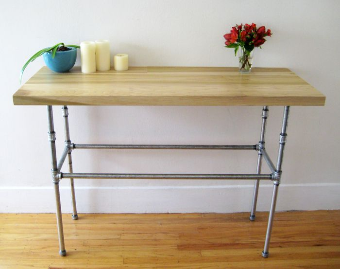 steel pipe furniture. poplar and pipe table steel furniture