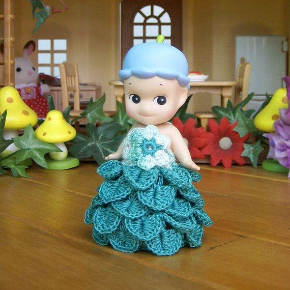 1Pcs Handmade Lotus Flower Dress For Sonny Angel by HandKnitMania