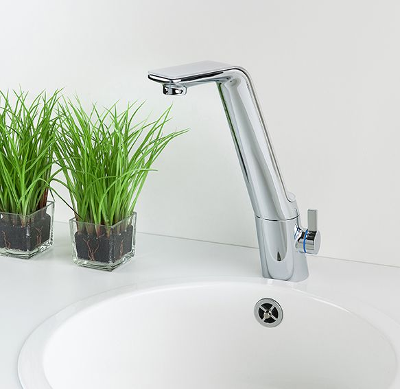 """La Cucina Alessi Sense by Oras - design Rodrigo Torres, 2015 - """"Sense"""" is a family of smart faucets where beauty has a holistic meaning that is present in the way they are built and how they behave."""