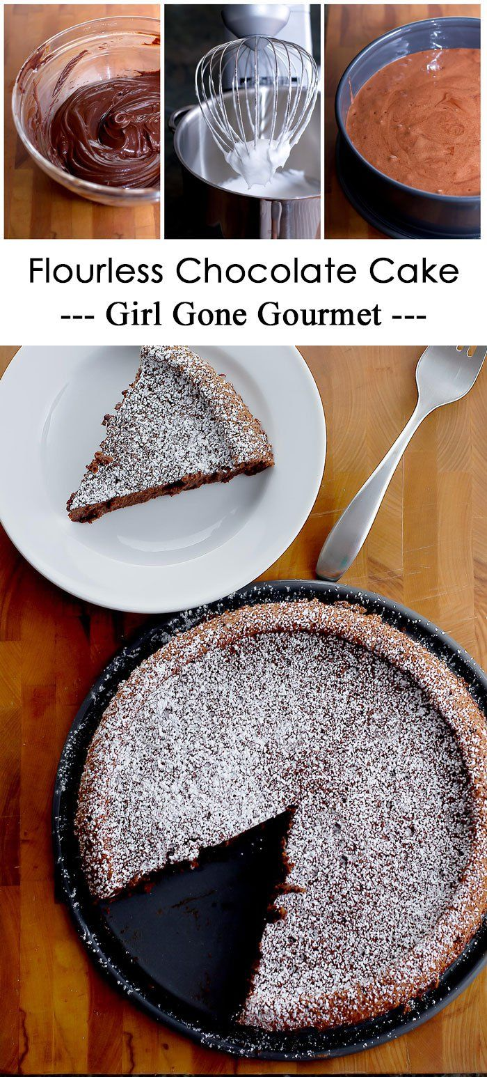 Wolfgang Puck's Flourless chocolate cake - it's rich and so decadent! | girlgonegourmet.com