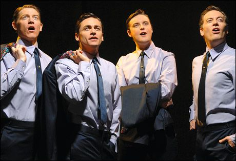 Philip Bulcock, Ryan Malloy, Stephen Ashfield and Glenn Carter head the British Jersey Boys cast.