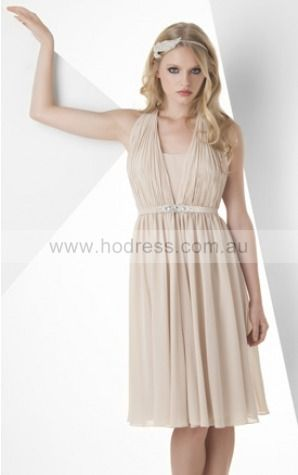 A-line Halter Natural Sleeveless Short Cocktail Dresses zeh026
