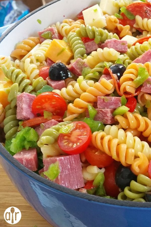 "Awesome Pasta Salad | ""This is absolutely delicious! I made it for myself one day to test it and fell in love with it at the first bite!!! I then made it for my boyfriend one day and he was speechless (Italian Recipes For A Crowd)"