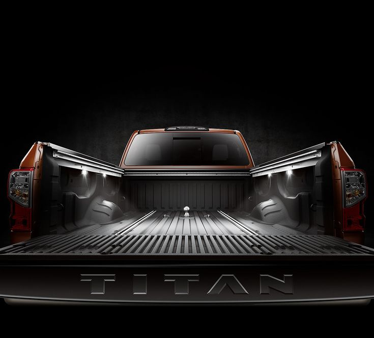 All New 2016 Nissan Titan XD ~ cargo bed lights on