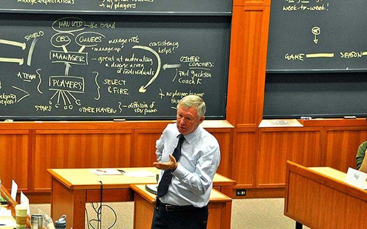 Sir Alex Ferguson addresses students at the Harvard Business School-Former Manchester United manager Sir Alex Ferguson secures 'long-term teaching position' at Harvard