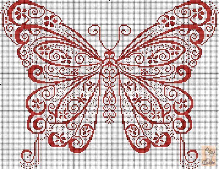 Cross stitching sheme - butterfly