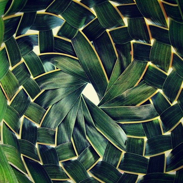 How To Weave A Basket From Banana Leaves : Leaf weave baskets nature green pattern