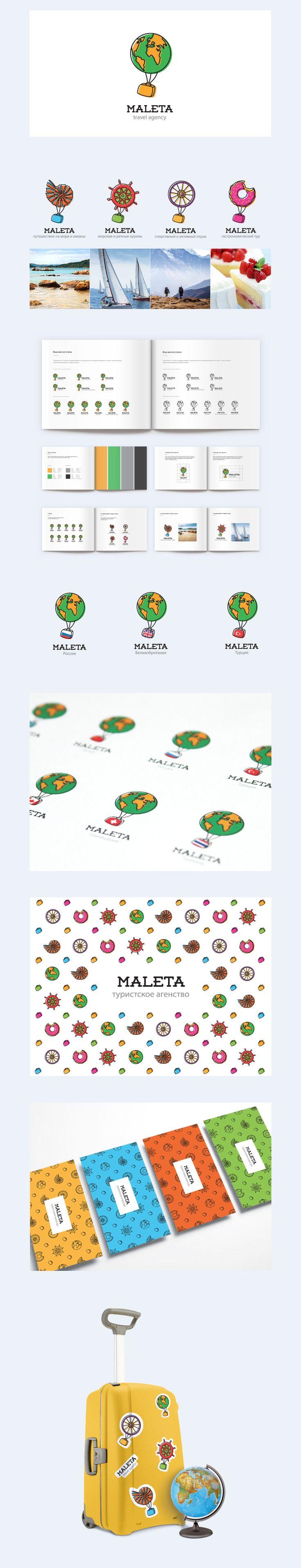 Maleta.kz — это казахстанский туристический портал, предлагающий набор бесплатных сервисов для планирования и организации путешествия.  «Maleta» в переводе с испанского — чемодан. Поэтому основным требованием заказчика было присутствие на логотипе этого незаменимого спутника любого путешественника.  Земной шар можно с легкостью заменить на любой тематический объект. А для маркирования конкретного направления чемодан приобретает окрас флага необходимой страны.  Мария Колоколова